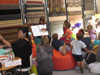Room and Board-Culver City, CA Welcomes Alva for a Fun-Filled Family Day of Books!