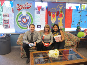 Mr. John Staggs, Principal, Alva, and Tressy take a break and enjoy the event!