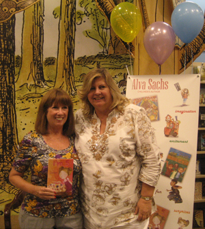 Kathleen Sterling, author of Sex After Death, and Alva share a photo opt together