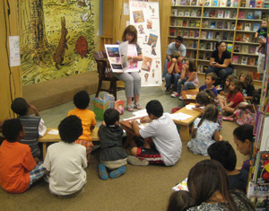 Our new big book presentation is a hit with the kids as we read stories together