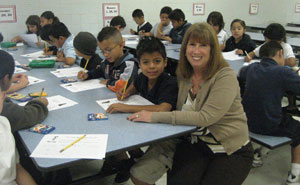 Students from kindergarten to 5th grade have fun with stories, writing, and drawing activities