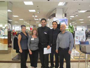 Macy's Canoga Park  welcome Alva to their RIFSoCal rally and cheer for the Be Book Smart campaign