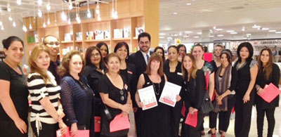 Alva, Javid, store manager, and the Associates, ready to sell coupons for RIF Macy's Promenade-Woodland Hills, CA